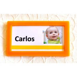 Tarifold Paquete 4 Marcos Identificadores.Formato 80X45Mm.Color Amarillo.Ref. 194854
