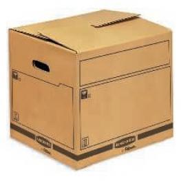 Fellowes Caja de Transporte y Mudanzas Extra Resistente de Capaciad de 85 Litros Ref.6207002