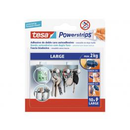 Tesa 10 Tiras Adhesivas Doble Cara Powerstrips 58060-00000-01