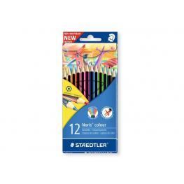 Staedtler Caja 12 Lapices Noris Fabricados En Material Wopex Ecológico. Colores Surtidos 185C12