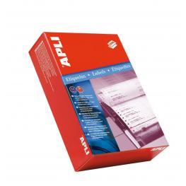 Apli Caja 500 Pliegos Etiquetas Blancas En Continuo 88'9X23'3-2 00014