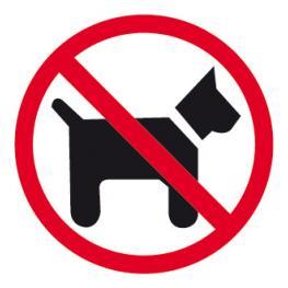 "Etiqueta Impresa Apli ""prohibido Perros"""