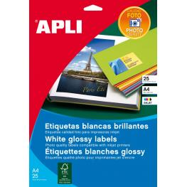 Paq. 10H Etiquetas Apli Gloss Inkjet 99,1X34 2923