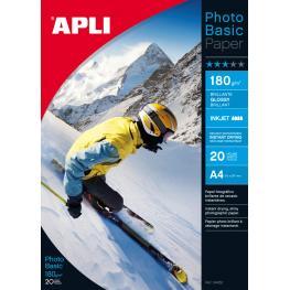 Paq. 10 H. Din A4 Glossy Paper 170 Gr Apli 4452