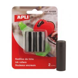Pack 2 Rodillos de Tinta Para Etiquetadora Apli 101558