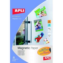 Paq. 8H A-4 Papel Magnetico Apli Para Inkjet 10245