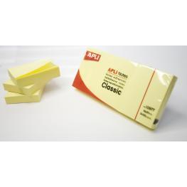 Pack 3 Blocs 100H Notas Adhesivas Apli 40X50 Color Amarillo