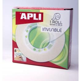 Cinta Adhesiva Invisible 19X33 Mm Apli 11036