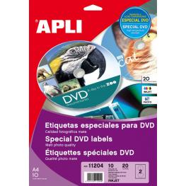 B.Ink Etiq.Dvd 117Mm. Pet. 10H 11204