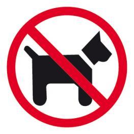 B.Prohibido Perro Interior 1H. 11536