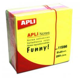 Cubo de Notas Adhesivas Apli 51X51 Colores 11596
