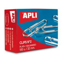 Caja 100 Clips Galvanizados Apli Nº 1,5 11713