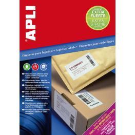 Apli Caja 100 Hojas Etiquetas Blancas Extra Fuertes I/l/c 210,0X148,0 Mm