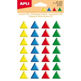 Bolsa 1H Gomets Apli 3D Triangulos 20Mm Colores 12264