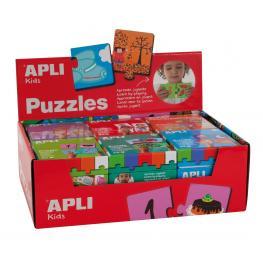 Caja Expositor Rojo 6 Ud. Puzzles Apli 13334