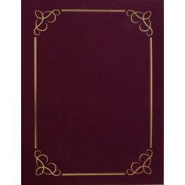 Carpeta Certificado Granate 300G. 5U. 13406