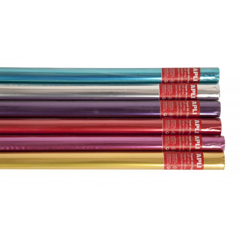 Rollo Papel de Regalo 2X0,70 M Metalizado