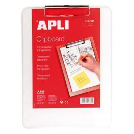 Apli Clipboard Base Plastico Transparente A4 13780