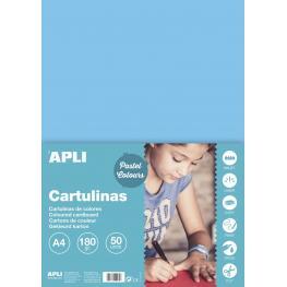 Cartulina 180G A4 50H Azul Claro 14236