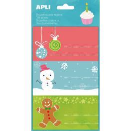Bolsa 9 Etiquetas Adhesivas Navidad Bolas Apli 14399