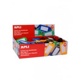 Caja 100 Llaveros Colores Plastico 22X51 Apli 17132