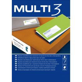Multi3 Caja 500 H Etiquetas Blancas 105X74 Mm (8 Etiq./hoja) 10530