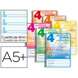 Cuaderno Liderpapel 4º 4Mm Pauta Guia 40H 80Gr Bc46
