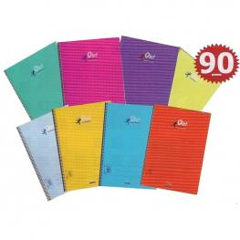 Cuaderno Fº Tapa Pp Liso 80H 90Gr. Colores Olef