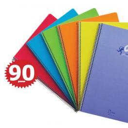 Cuaderno Olef Fº Tapa Pp Milimetrado 80H 90Gr Colores