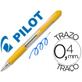 Pilot Boligrafo Retractil Supergrip 1Mm Amarillo Trazo 0,4Mm Bpgpam