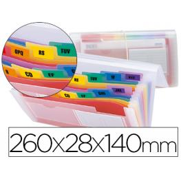 Carpeta Liderpapel Clasificador Fuelle 43804 Polipropileno Para Letras y Cheques Spectrafile 13 Dpto