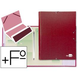 Carpeta Clasificadora Liderpapel 12 Departamentos Folio Prolongado Carton Forrado Roja