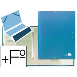 Carpeta Clasificadora Liderpapel 12 Departamentos Folio Prolongado Carton Forrado Verde Azul Celeste