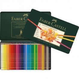 """Faber Castell Estuche de Metal 36 Lapices de Colores """"polychromos"""""""