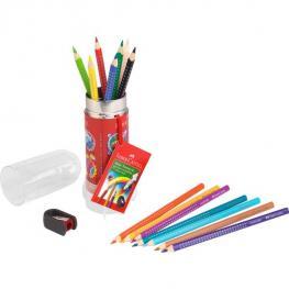 Faber Castell Cohete Espacial 15 Lapices Color Grip + 1 Afilalapices