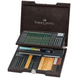 Faber-Castell Estuche de Madera Wengue 86 Piezas