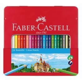 Faber-Castell Estuche de Metal 24 Lapices de Color Clasicos