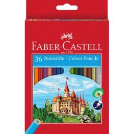 Faber Castell Estuche de Cartón 36 Lapices de Color Forma Hexagonal