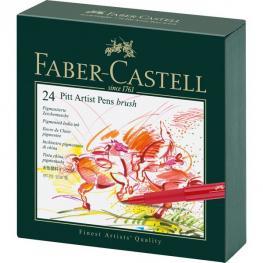 Faber Castell Estuche 24 Rotuladores Pitt Artist Pen