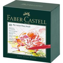 Faber Castell Estuche 48 Rotuladores Pitt Artist Pen