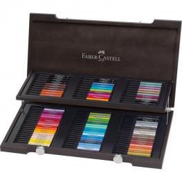 Faber Castell Estuche de Madera Con 90 Rotuladores Pitt Artist Pen