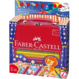 Faber Castell Maletin Regalo 18 Lapices Color Jumbo Grip, 1 Lapiz Grafito, 1 Pincel, 1 Vaso, 1 Afila
