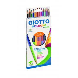 Giotto Caja 12 Pinturas Bicolor Stilnovo