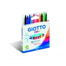 Giotto Estuche 12 Ceras Redondas de Colores Vivos 281200