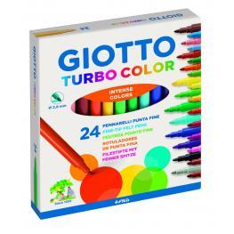 Giotto Rotuladores Giotto Turbo Color Estuche 24 Ud Colores Surtidos 417000