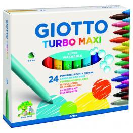 Giotto Rotuladores Turbo Maxi Estuche 24 Ud Punta Gruesa Colores Surtidos 455000