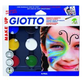 Giotto Pinturas Maquillaje Giotto Set Sombras 6Ud Colores Surtidos Botes 5,5Ml+Blanco 10Ml 470100