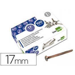 Encuadernadores Liderpapel N.2 17 Mm -Caja de 100 Niquelados