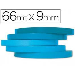 Cinta Adhesiva Q-Connect 66M X 9Mm Azul Para Cerrar Bolsas