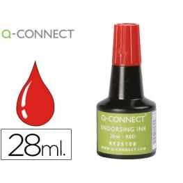 Tinta Tampon Q-Connect Rojo -Frasco de 28 Ml